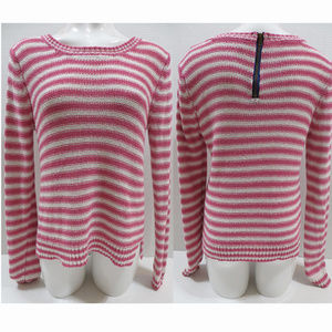 Aeropostale sweater Medium striped open knit zip